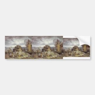 John Constable- Dedham Church and Vale Bumper Sticker