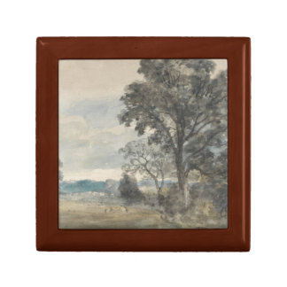 John Constable - Landscape at East Bergholt Small Square Gift Box