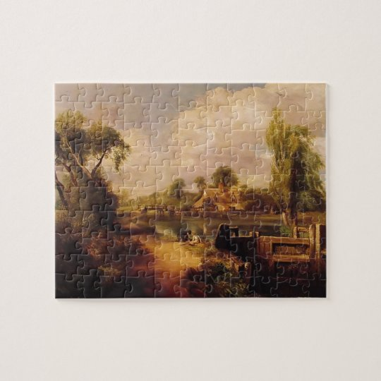 John Constable- Landscape: Boys Fishing Jigsaw Puzzle