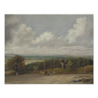John Constable - Ploughing Scene in Suffolk Art Photo