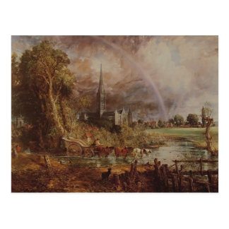 John Constable- Salisbury Cathedral From Meadows Postcard