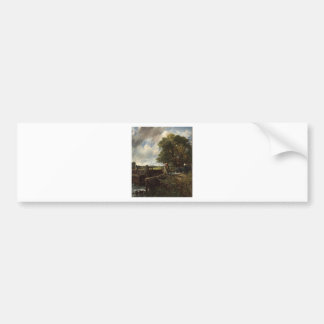John Constable - The Lock - Countryside Landscape Bumper Sticker