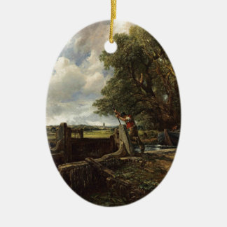 John Constable - The Lock - Countryside Landscape Ceramic Ornament