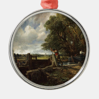 John Constable - The Lock - Countryside Landscape Metal Ornament