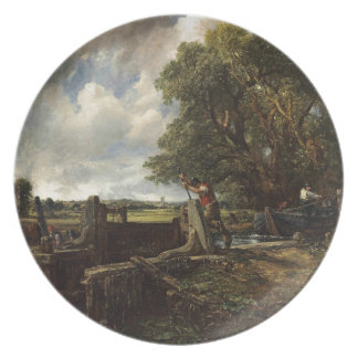 John Constable - The Lock - Countryside Landscape Plate