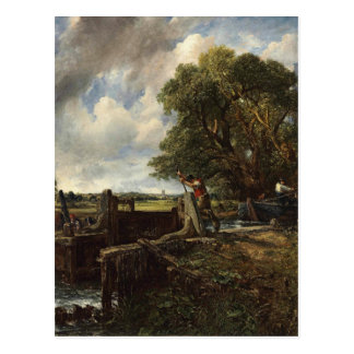 John Constable - The Lock - Countryside Landscape Postcard