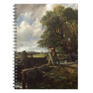 John Constable - The Lock - Countryside Landscape Spiral Notebook