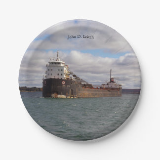 John D. Leitch paper plate