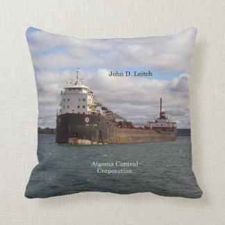 John D. Leitch square pillow