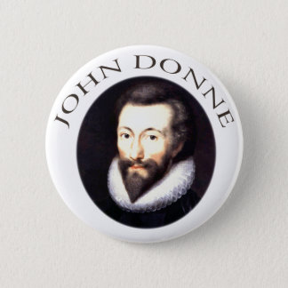 John Donne 6 Cm Round Badge