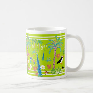 John Dyer Art Mug of Tresco Abbey Garden, Cornwall