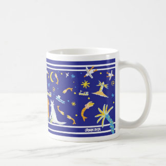 John Dyer Blue Seaside St Ives Art Mug