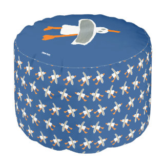 John Dyer Cornish Seagull Pouf Blue