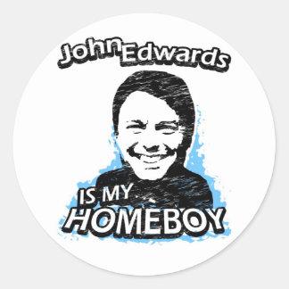 John Edwards is my homeboy Sticker