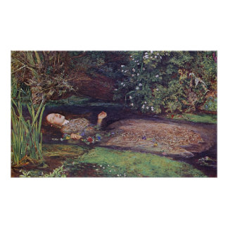 John Everett Millais Ophelia Poster
