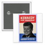 John F Kennedy 15 Cm Square Badge