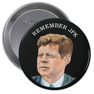 John F. Kennedy 1917-1963 10 Cm Round Badge