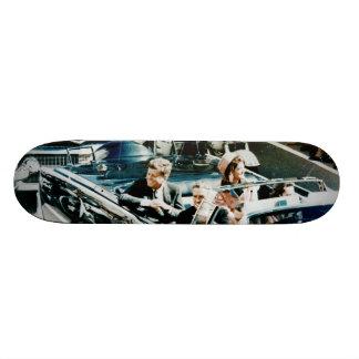 John F Kennedy and Jackie in the Motorcade Dallas 19.7 Cm Skateboard Deck
