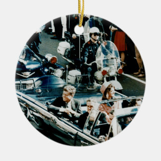 John F Kennedy and Jackie in the Motorcade Dallas Ceramic Ornament