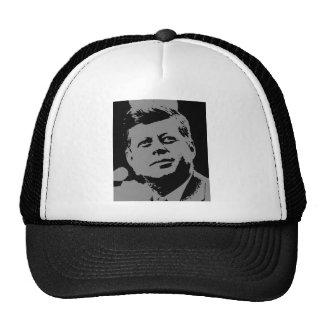 John F. Kennedy  black and grey silhouette Cap