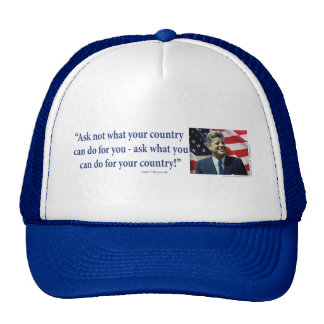 John F Kennedy Trucker Hat