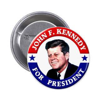 John F Kennedy For President 6 Cm Round Badge