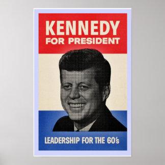 John F Kennedy half tone poster