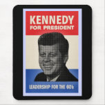 John F Kennedy Half Tone Vintage Style Mouse Mats