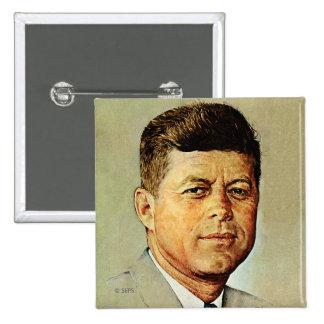 John F. Kennedy IN MEMORIAM 2 15 Cm Square Badge