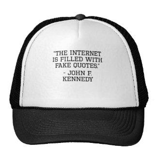 John F. Kennedy Internet Quote Mesh Hat