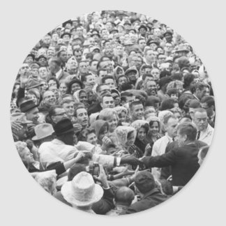 John F Kennedy JFK Fort Worth Rally '63 Classic Round Sticker