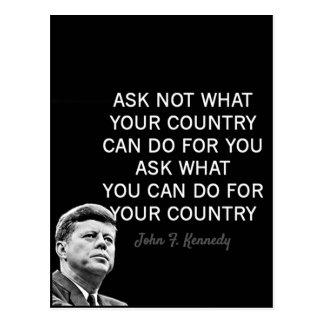 John F Kennedy Motivational Quotes Postcard
