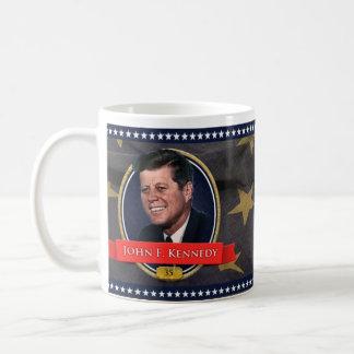 John F. Kennedy Basic White Mug