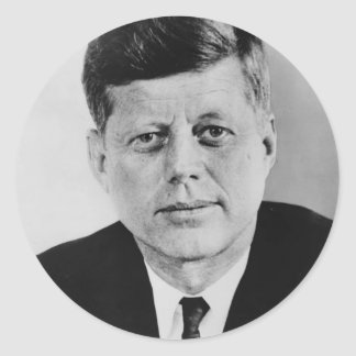 John_F_Kennedy official photo from public domain Round Sticker