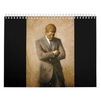 John F Kennedy Official Portrait by Aaron Shikler Wall Calendar
