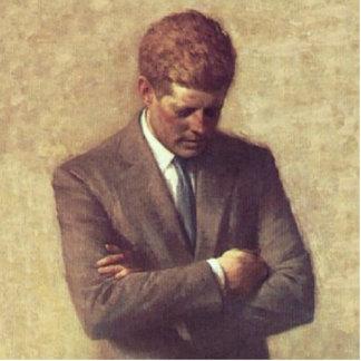 John F Kennedy Official Portrait Standing Photo Sculpture