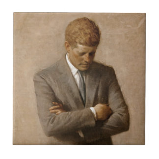 John F. Kennedy Official White House Portrait Small Square Tile