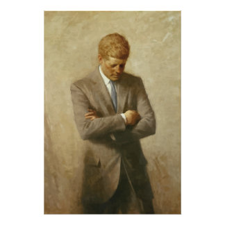 John F Kennedy Painting Posters