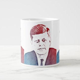 John F. Kennedy Pop Art Portrait Jumbo Mug