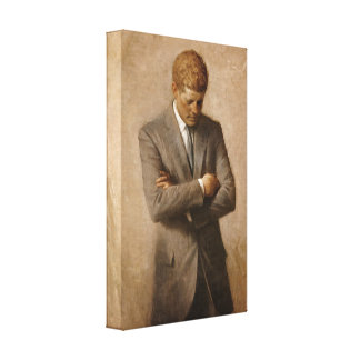 John F. Kennedy Portrait Stretched Canvas Prints