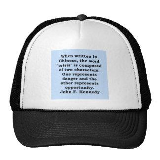 john f kennedy quote trucker hat