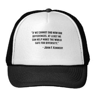 John F. Kennedy Quote Cap