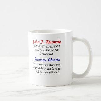 John F. Kennedy Quote Mug