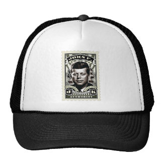John F. Kennedy Vintage Stamp Art Trucker Hat