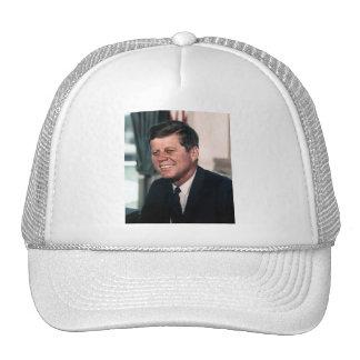 John F Kennedy White House Color Portrait Trucker Hat
