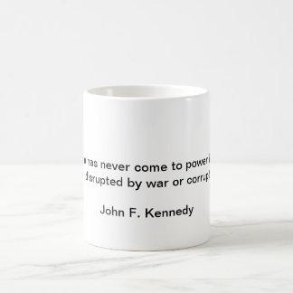 John F Quote Basic White Mug