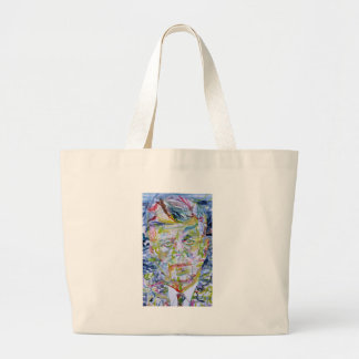 john fitzgerald kennedy - watercolor portrait.1 large tote bag