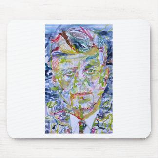 john fitzgerald kennedy - watercolor portrait.1 mouse pad