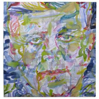 john fitzgerald kennedy - watercolor portrait.1 napkin