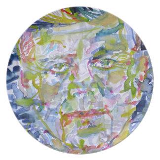 john fitzgerald kennedy - watercolor portrait.1 plate